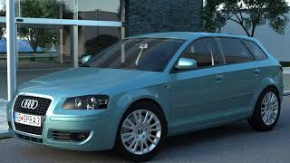 3D Model of Audi A3 Sportback (2005) Review