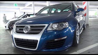 VW Passat R36 Kombi blue/silver vossen wheels | Turboday 3.0