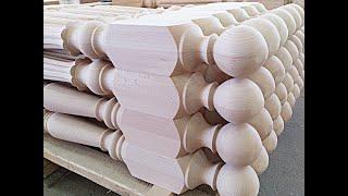 Изготовление балясин из дерева для лестницы: токарный станок, формы, видео