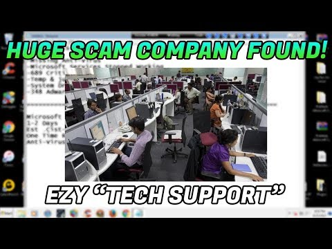 Tech Support Scam / Huge scammer company exposed!! - 1-844-441-0888 - www.ezytechsupport.com