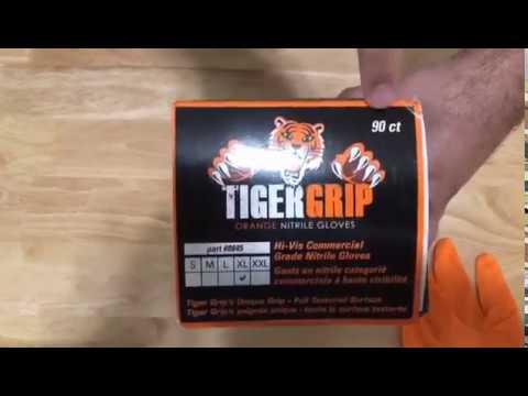 Unboxing Gloves Nitrile Tiger Grip
