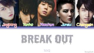 TVXQ (동방신기) - Break Out [Colour Coded Lyrics] (Kanji/Rom/Eng)