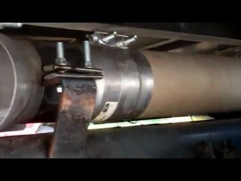 5 straight pipe exhaust caterpillar c15 diesel truck