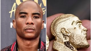 🔵CHARLAMAGNE THE GOD GIVES NIPSEY GF JEWELRY PENDANT OF NIPS FACE 🔵