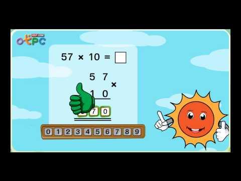 การคูณจำนวนที่มีสองหลัก กับจำนวนเต็มสิบ - สื่อการเรียนการสอน คณิตศาสตร์ ป.3