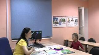 Видео индивидуальный урок с ученицей 3 класса