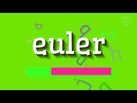 "How to say ""euler""! (High Quality Voices)"
