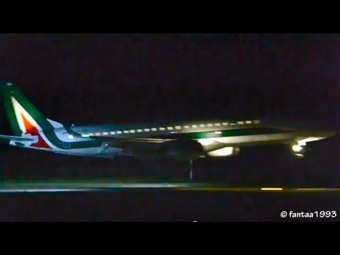 ERJ-190 Night Landing in Berne HD