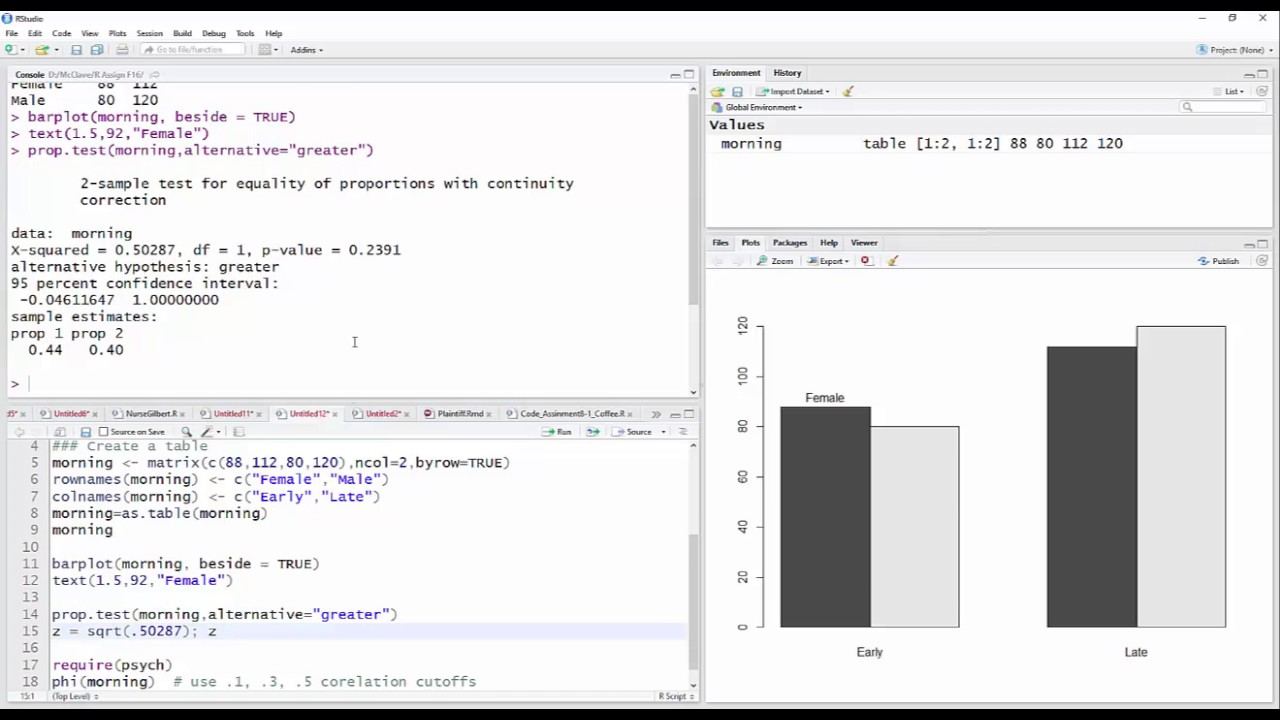 Two Proportion Z Test with R - YouTube