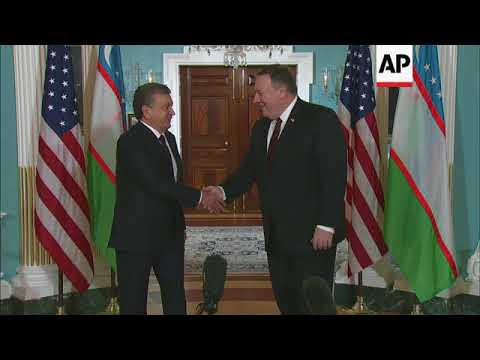 Pompeo Hosts Uzbekistan Leader at State Dept.