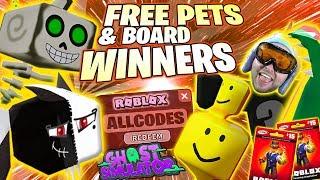 Ghost Simulator FREE PETS WINNERS OOF ! SCAR ! Skeley & Spikes ! ALL CODES Roblox Card Giveaway Leak