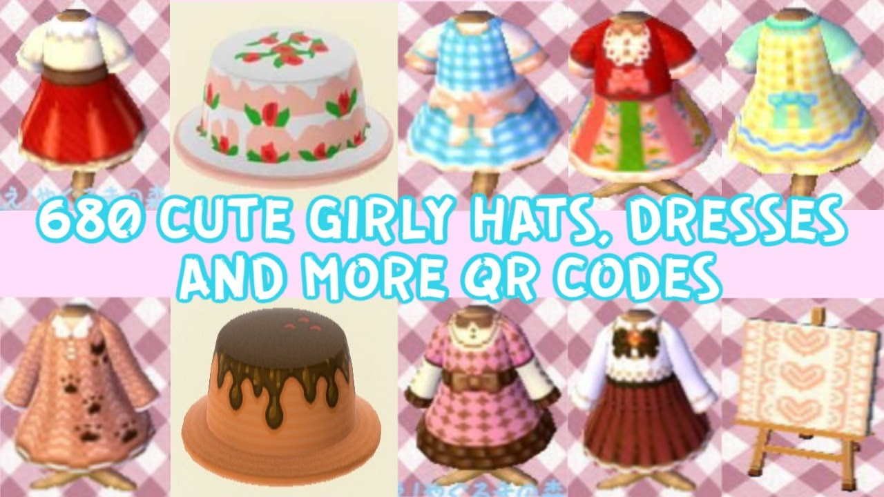 680 Pcs Compilation Of Girly Cute Customized Qr Codes For Animal Crossing New Horizons Youtube
