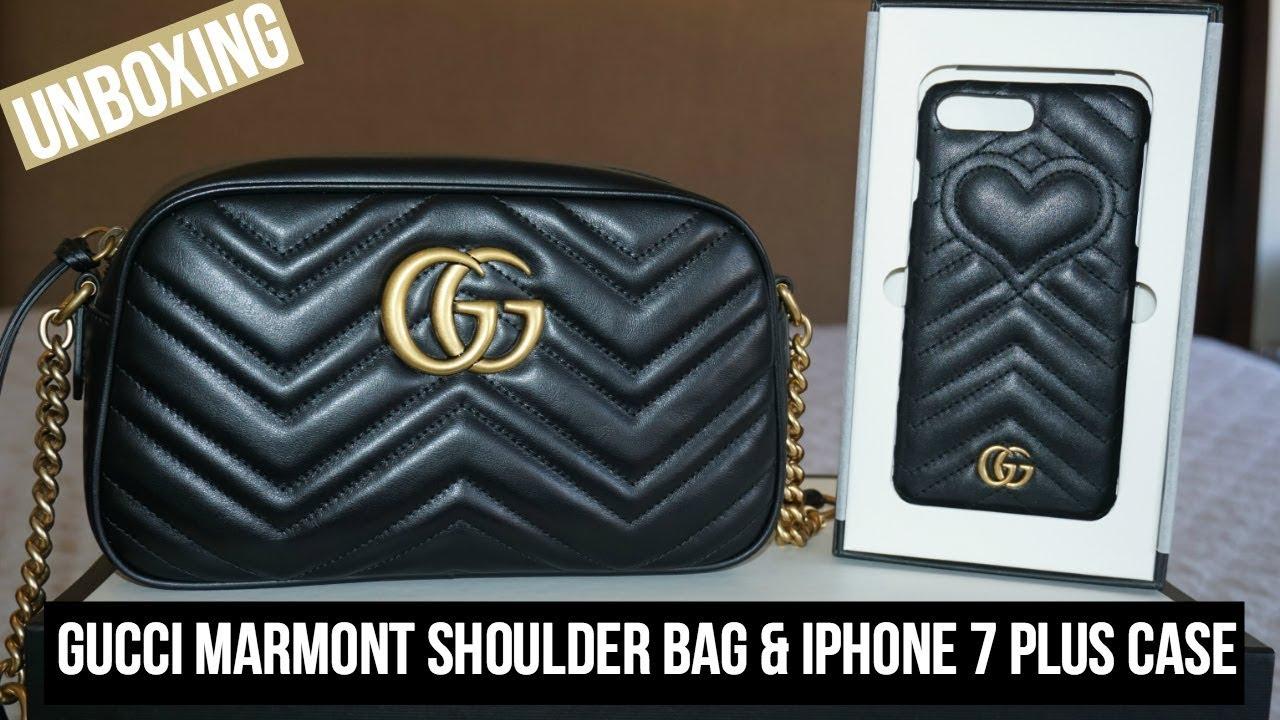 uk availability afb36 90d6a Gucci Marmont Shoulder Bag & iPhone 7 Plus Case | Unboxing