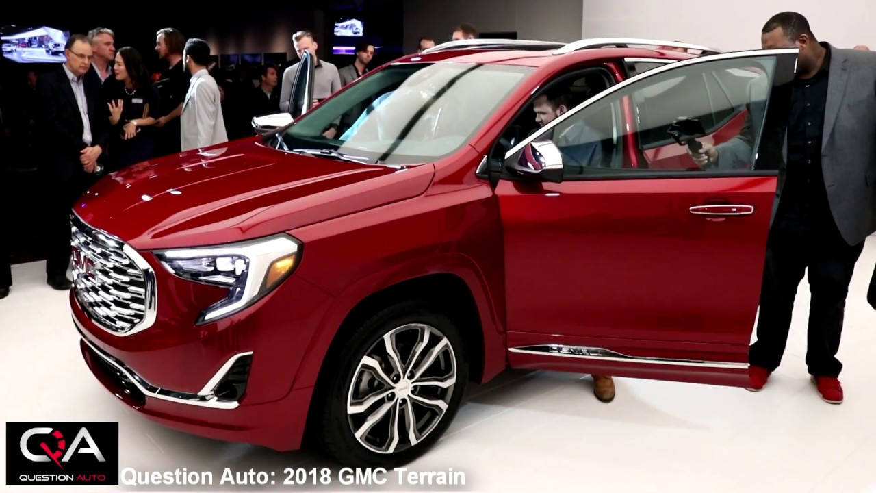 2018 gmc terrain reveal. plain terrain in 2018 gmc terrain reveal