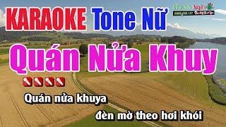 Quán Nửa Khuya Karaoke || Tone Nữ - Nhạc Sống Thanh Ngân