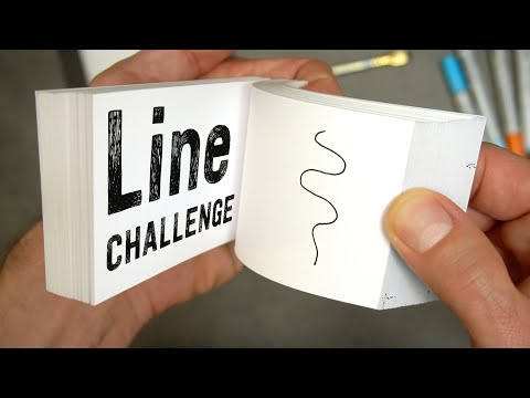 Flipbook LINE Challenge - What can I do with just a line?