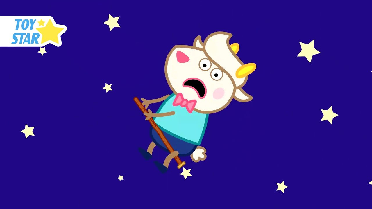 Dolly's friend flies in the stars. Cartoon for Kids