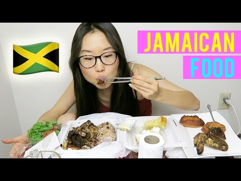 JAMAICAN FOOD MUKBANG with jerk pork, festival, key lime pie and more