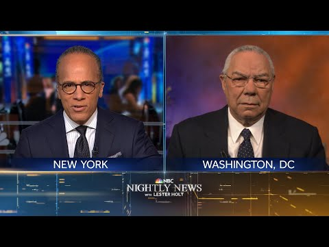 Extended Interview: Colin Powell Reflects On His Relationship With George Bush | NBC Nightly News