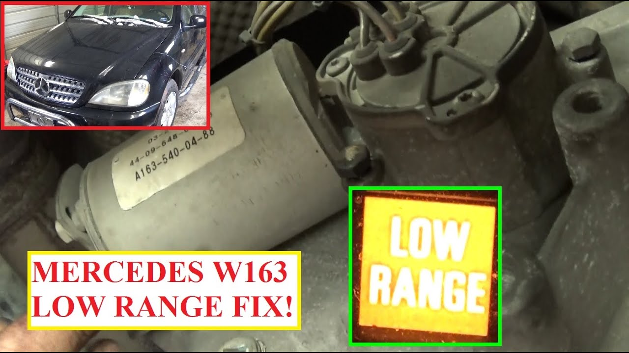Low Range Transfer Case Motor Removal And Replacement On Mercedes Diagram Of 98 Ml320 Engine W163 Ml230 Ml270 Ml350 Ml400