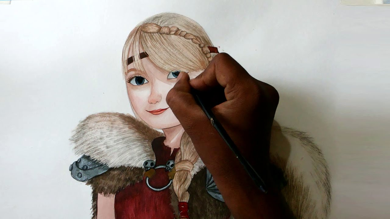 How to draw astrid from how to train your dragon 2 youtube how to draw astrid from how to train your dragon 2 ccuart Images