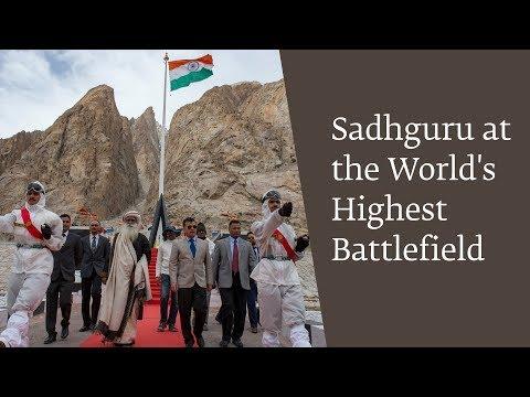 Sadhguru at the World's Highest Battlefield