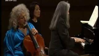 Mischa Maisky & Martha Argerich perform Schumann - LIVE!