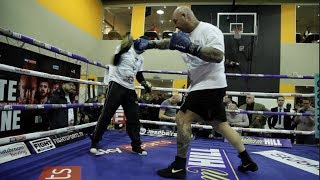 EXPLOSIVE LUCAS BIG DADDY BROWNE FULL COMPLETE PADS AHEAD HEAVYWEIGHT CLASH W DILLIAN WHYTE