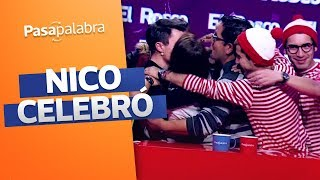 Así celebró Nico Gavilán tras ganar el rosco de Pasapalabra