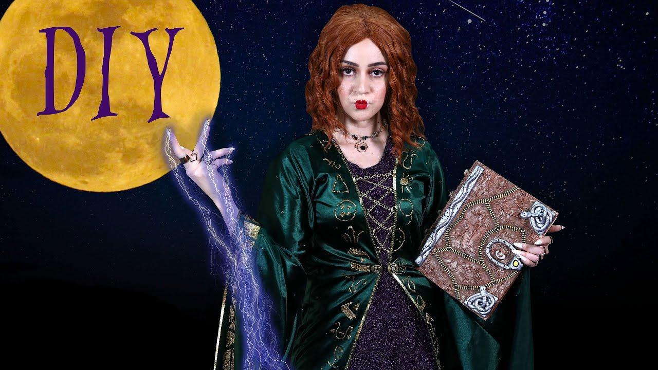 Diy Winifred Sanderson Halloween Costume Hocus Pocus Spell Book Lucykiins
