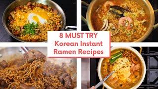 8 MUST TRY Korean Instant Ramen Recipes #BingeWatch