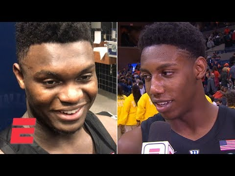 Zion, RJ Barrett, Coach K all smiles after win at Virginia | College Basketball Sound