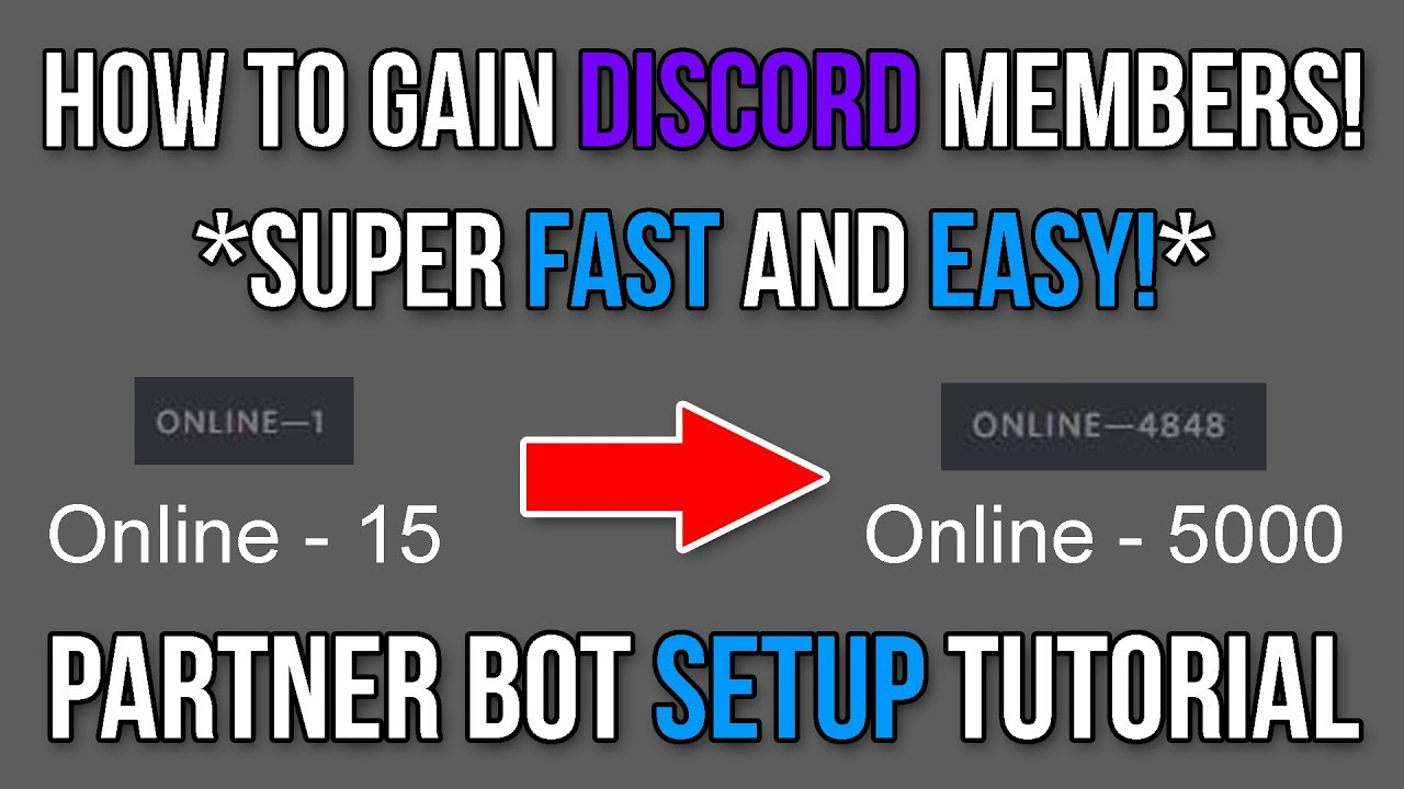 How To Grow Your Discord Server *FAST* - PartnerBot Setup Tutorial