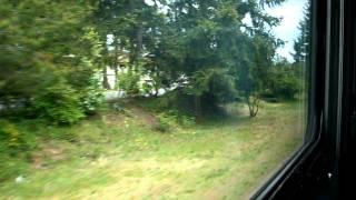 カナダの西部のヴィクトリアからコートニーまで結ぶVIA鉄道のローカル列...