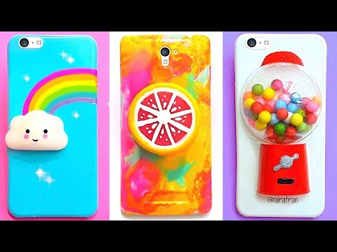 6 DIY STRESS RELIEVER PHONE CASES | Easy & Cute Phone Projects & iPhone Hacks