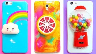 6 DIY STRESS RELIEVER PHONE CASES | Easy & Cute Phone Projects & iPhone Hacks thumbnail