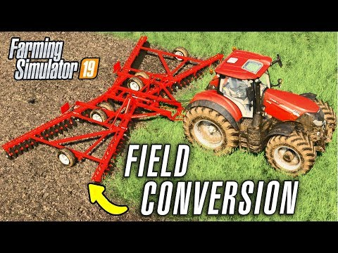 CONVERTING THE FIELD FOR THE TUBERS - Farming Simulator 19 (GROWERS FARM Ep 4)