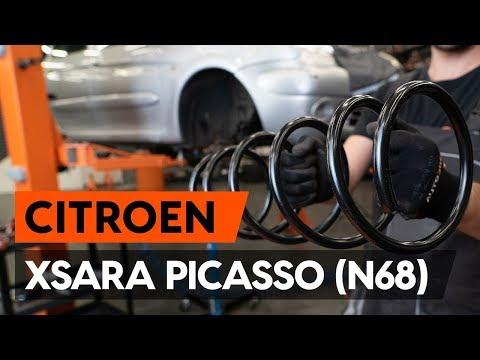Как заменить пружину передней стойки амортизатора CITROEN XSARA PICASSO (N68) [ВИДЕОУРОК AUTODOC]