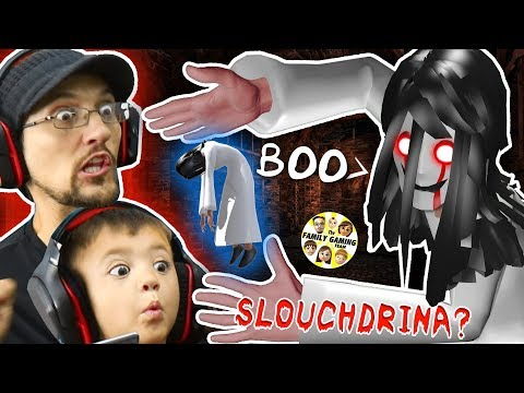 SLENDRINA's SLOUCHY SISTER? = SLOUCHDRINA!  FGTEEV Shawn Plays Hello Neighbor Granny Style Game