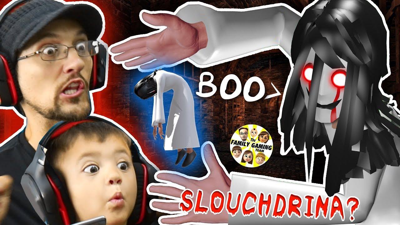 SLENDRINAs SLOUCHY SISTER? = SLOUCHDRINA!  FGTEEV Shawn Plays Hello Neighbor Granny Style Game