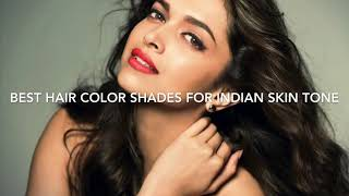 Best hair color shades for Indian skin tone//happy world//👧🏻