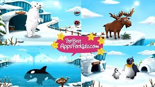 10 Arctic Animals ❄️ Learning App for Kids 🐋 feed, sleep, play with Animals