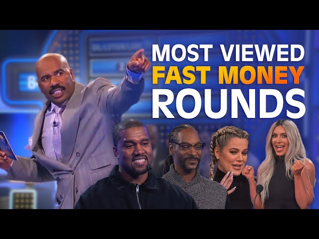 TOP 10 MOST-VIEWED FAST MONEYS EVER! | Family Feud