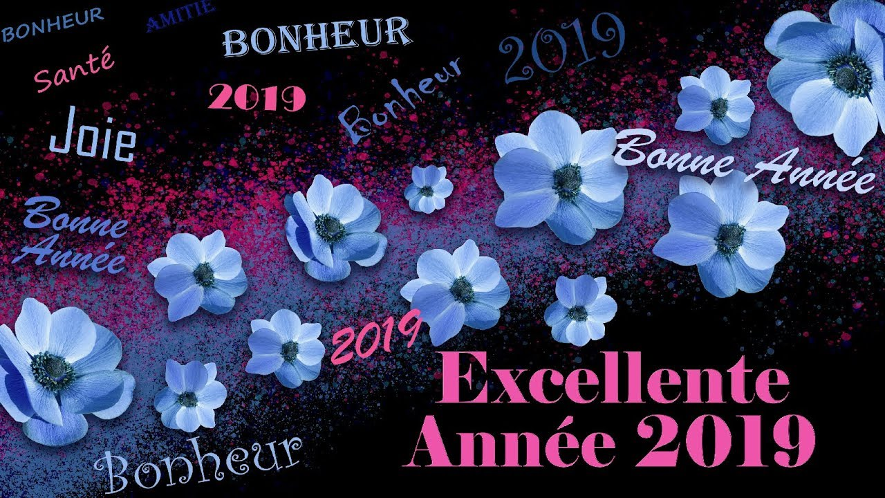 Carte virtuelle gratuite carte de v ux 2019 bonne ann e 2019 youtube - Images bonne annee gratuite ...