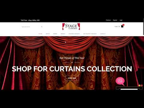 How to Buy Curtains Online, Stage Curtains Unique Designs