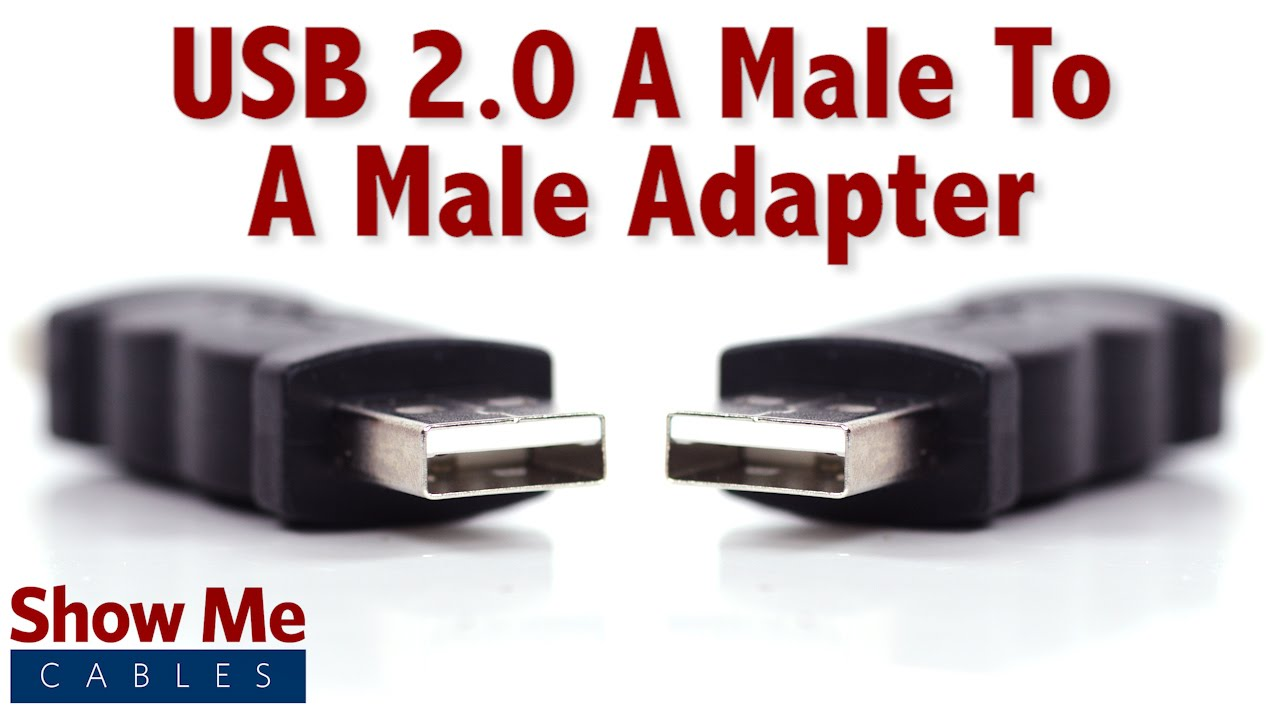 Easy To Use Usb 2 0 A Male To A Male Adapter Quickly Change Connection Types 3504