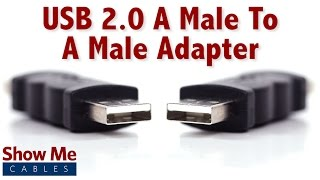 Https://www.showmecables.com/usb-a-male-to-usb-a-male-adapter hello, and welcome to show me cables. today we'll be taking a look at usb adapters. this is the...