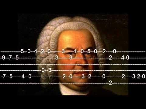 J.S.Bach Bourree in E minor Guitar Tab
