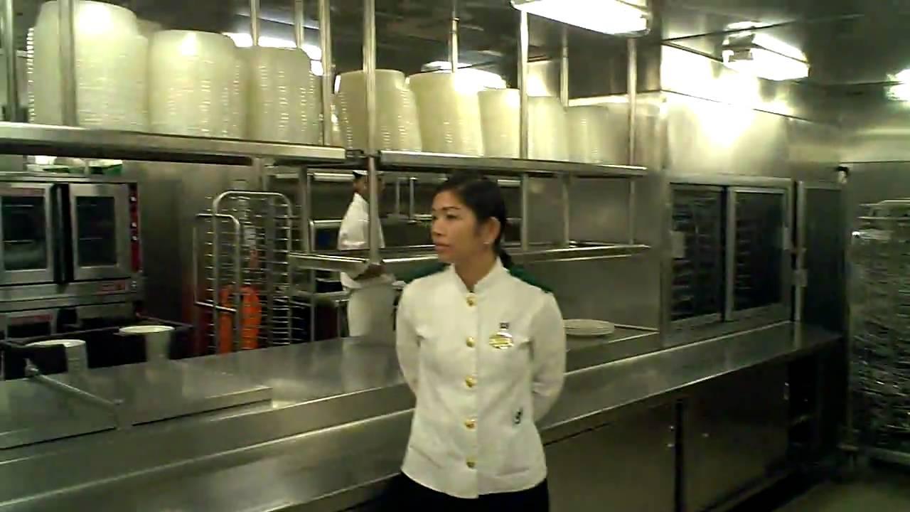 Princess Cruise Kitchen Galley Tour YouTube - Steward cruise ship