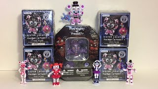 Five Nights at Freddy's Mystery Minis Sister Location FNAF 4 Walmart Exclusives Bonnie Tin & Cards